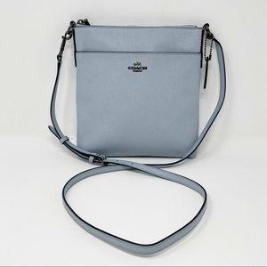 COACH Crossgrain Kitt Blue Messenger Crossbody Bag